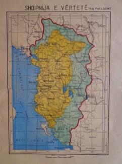 Harta e Shqipërisë së vërtetë